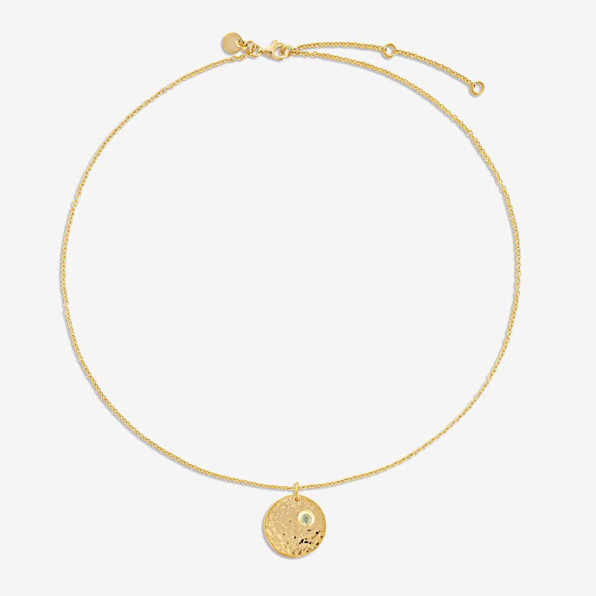 Birthstone August - Halsketten - Gold