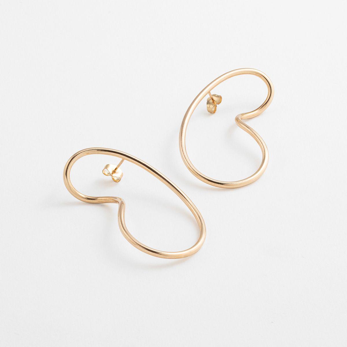Endless Curve - Ohrhänger - Gold