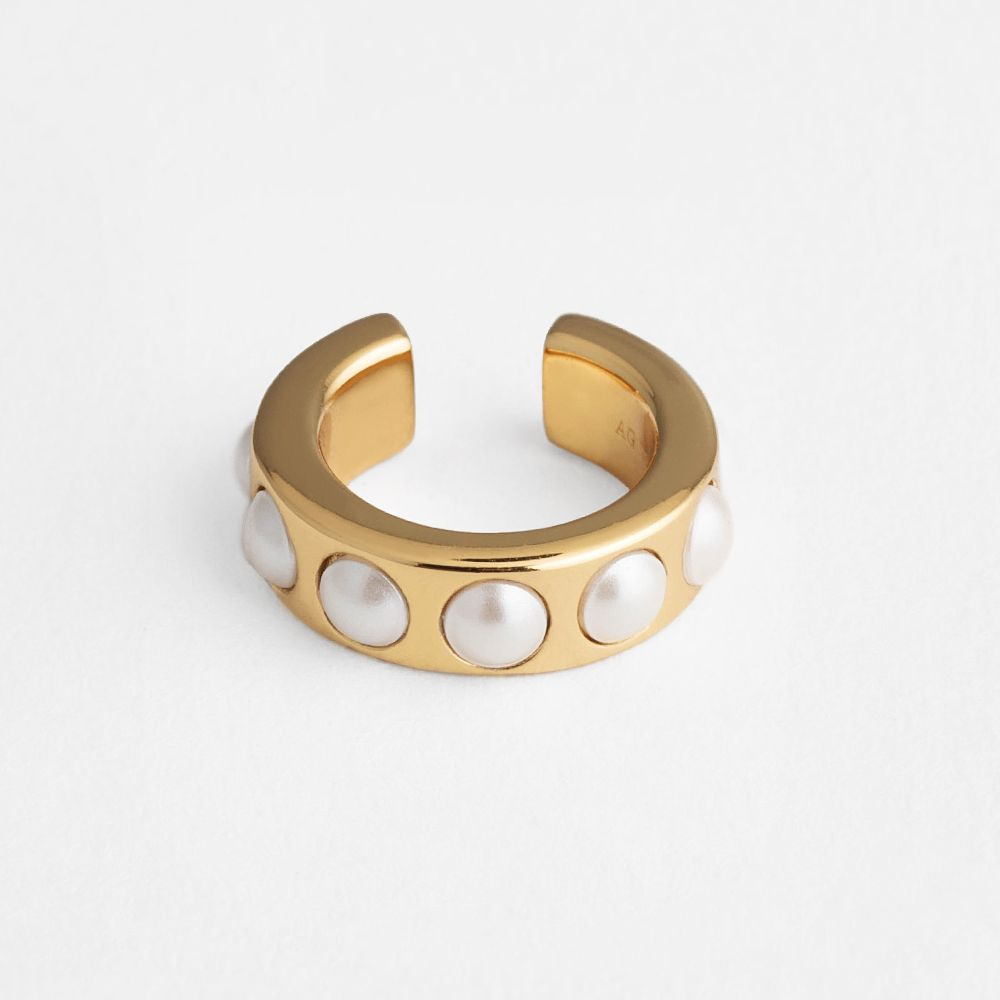 Pearl eacuff - Earcuffs - Goldgelb