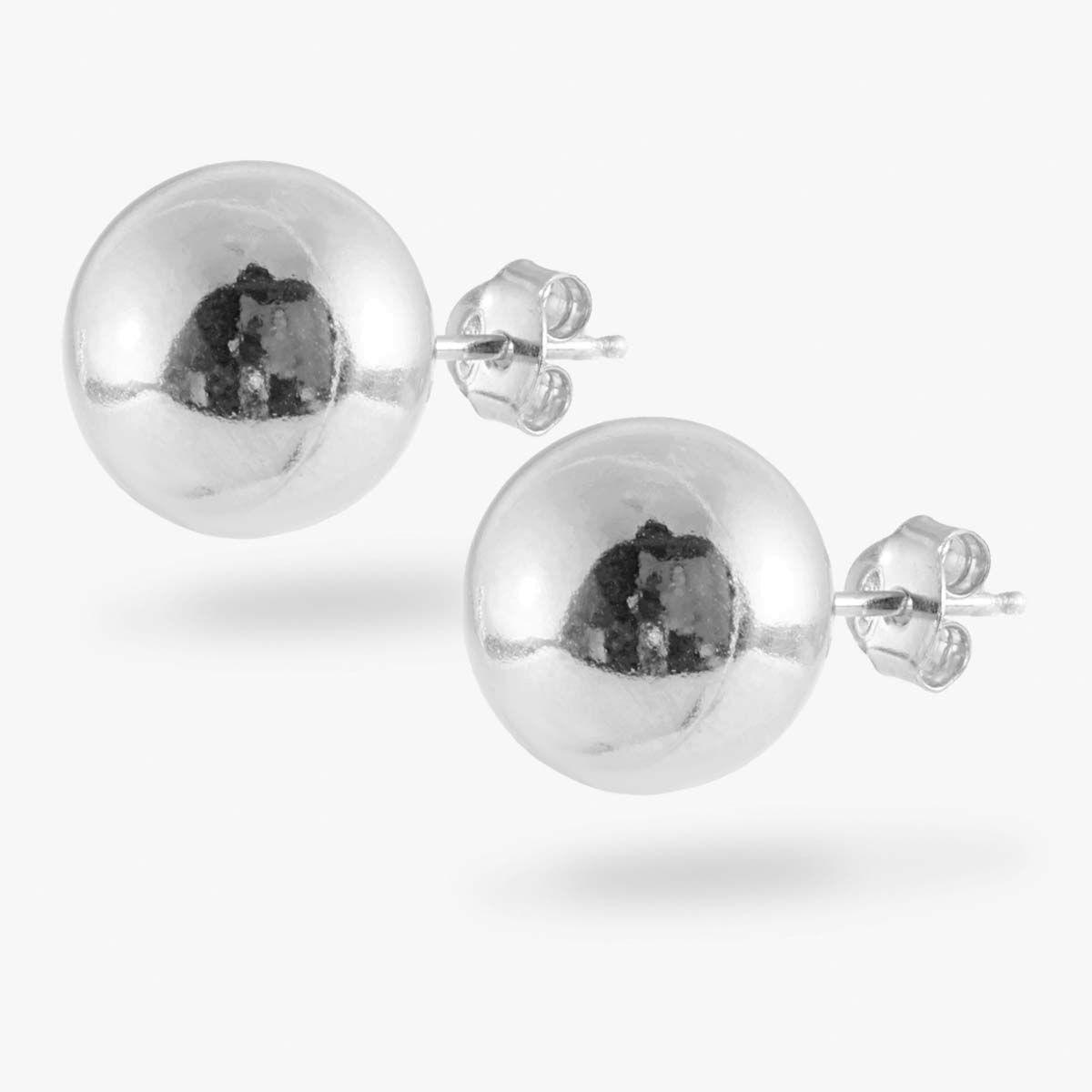 Big Ball - Ohrstecker - Silber