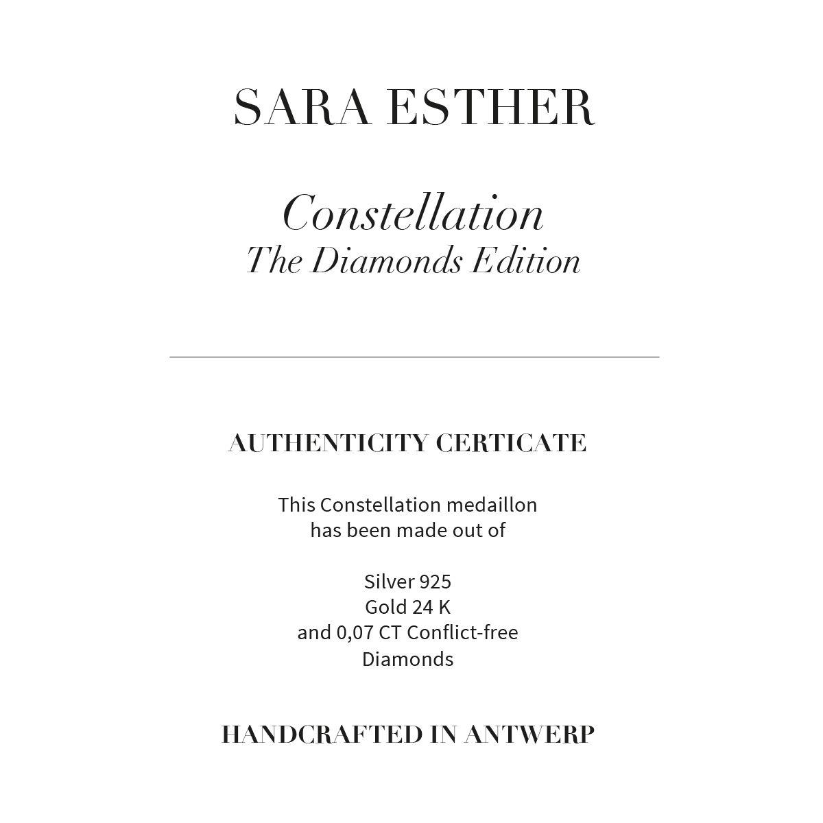 CANCER CONSTELLATION - Halsketten - Gold