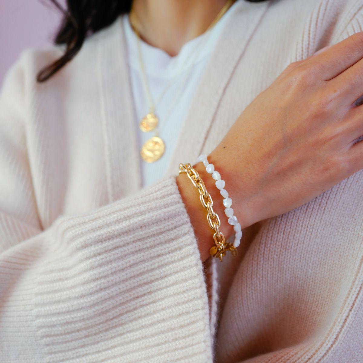 Mini Heart Bracelet - Armband - Gold