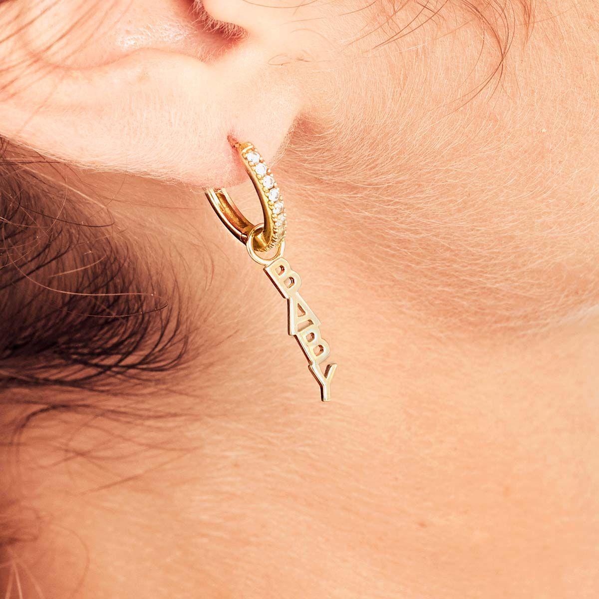 Love Choker - Gold - Ohrring Anhänger - 18k vergoldet
