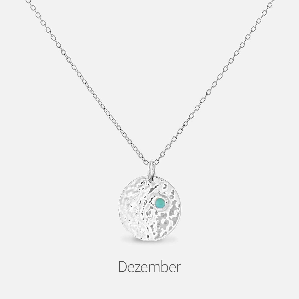 Birthstone December - Halsketten - Silber