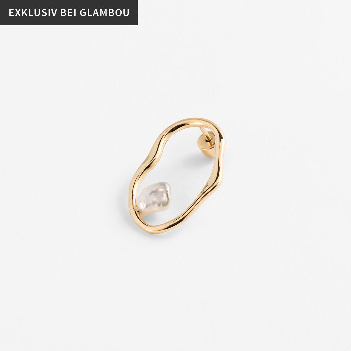 Qinn - Perlenohrringe - Gold