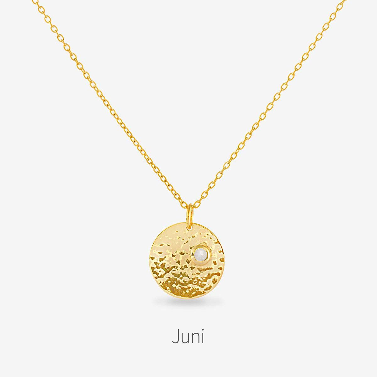Birthstone June - Halsketten - 18k vergoldet