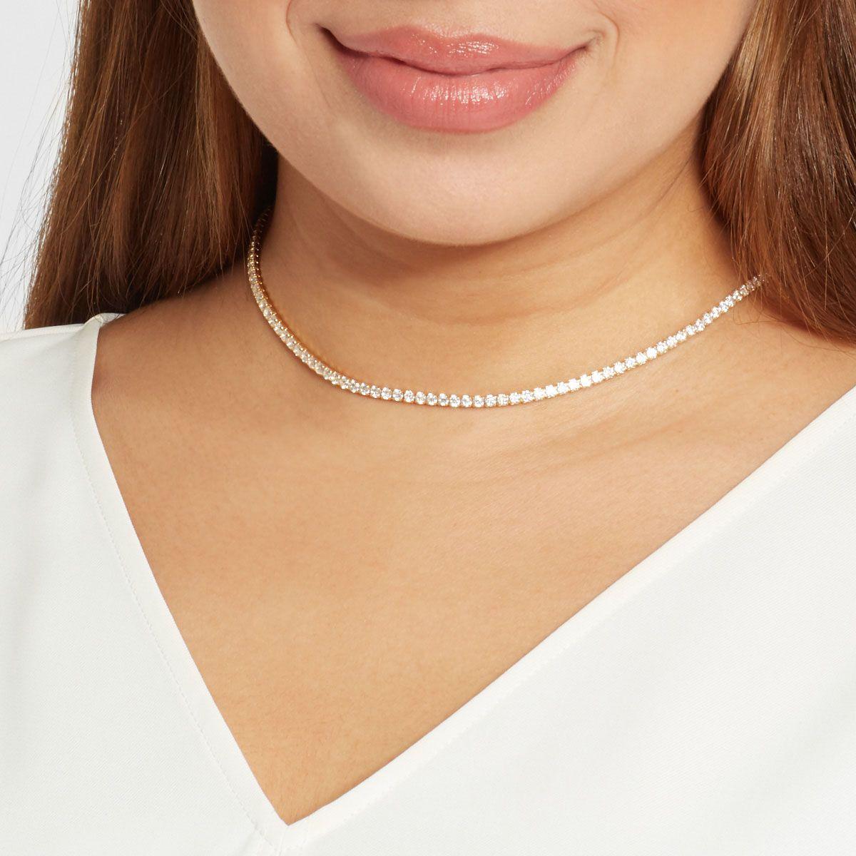 Tennis Choker - Halsketten - Silber