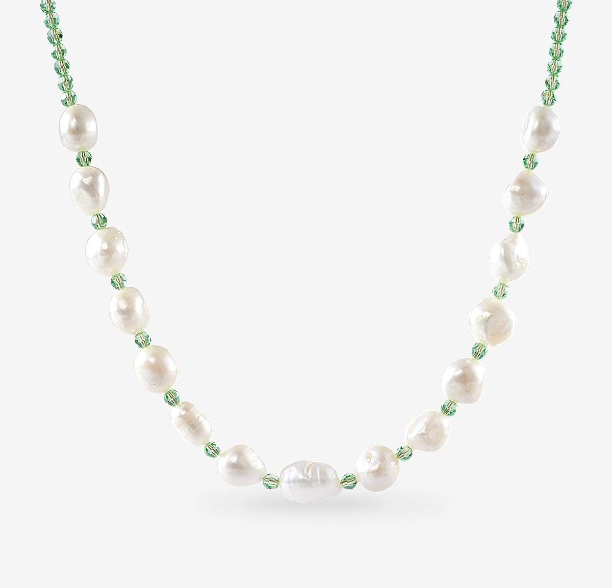 Tahiti Green Necklace - Halsketten - Gold