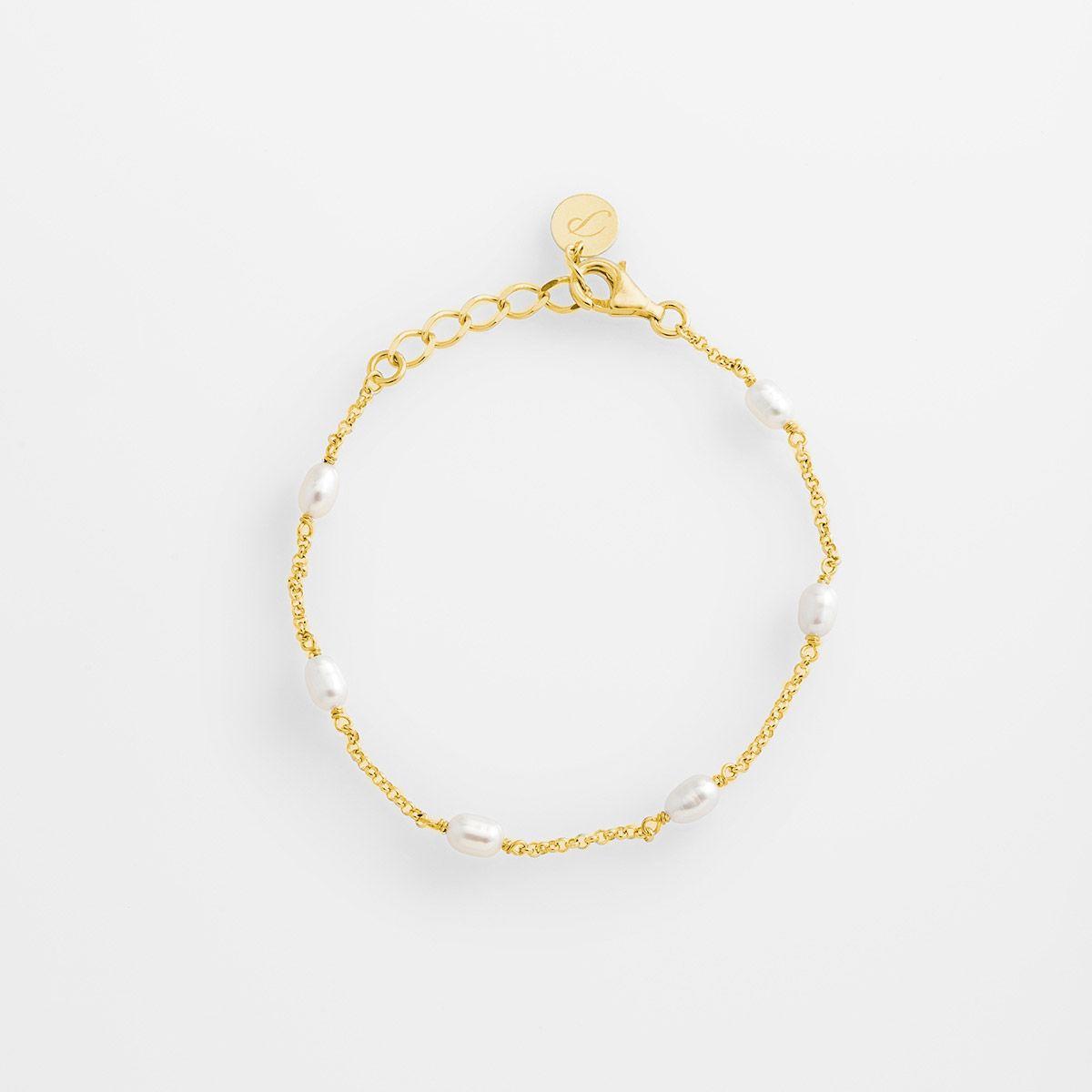 Coco - Perlenarmband - Gold
