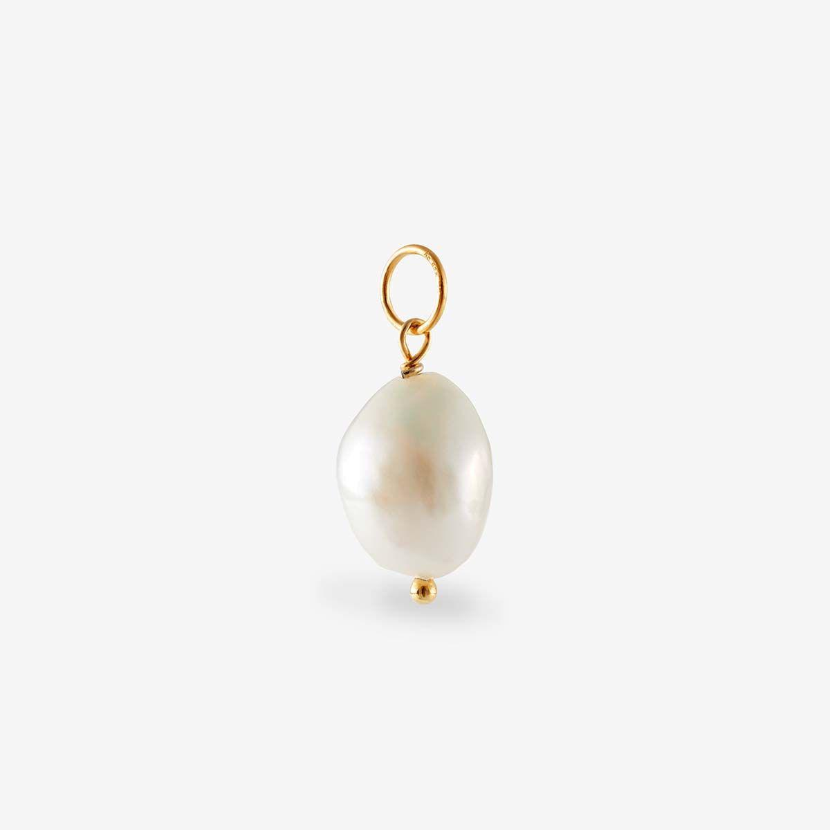 Anhänger Perle - Kettenanhänger - 18k vergoldet