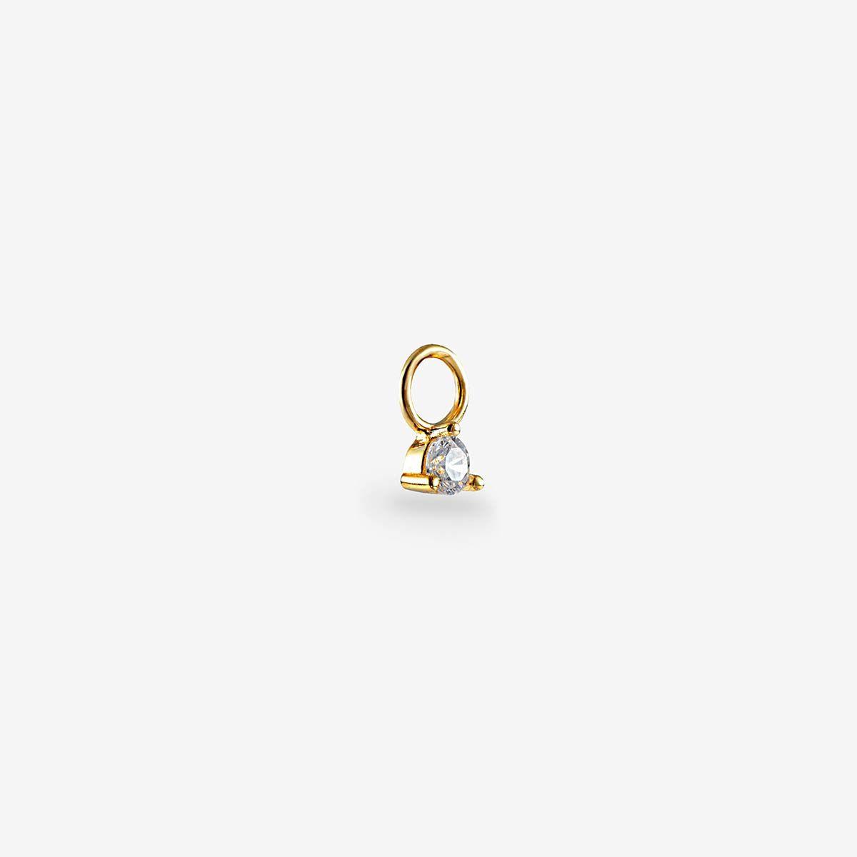 Crystal Anhänger Gld - Ohrring Anhänger - Gold
