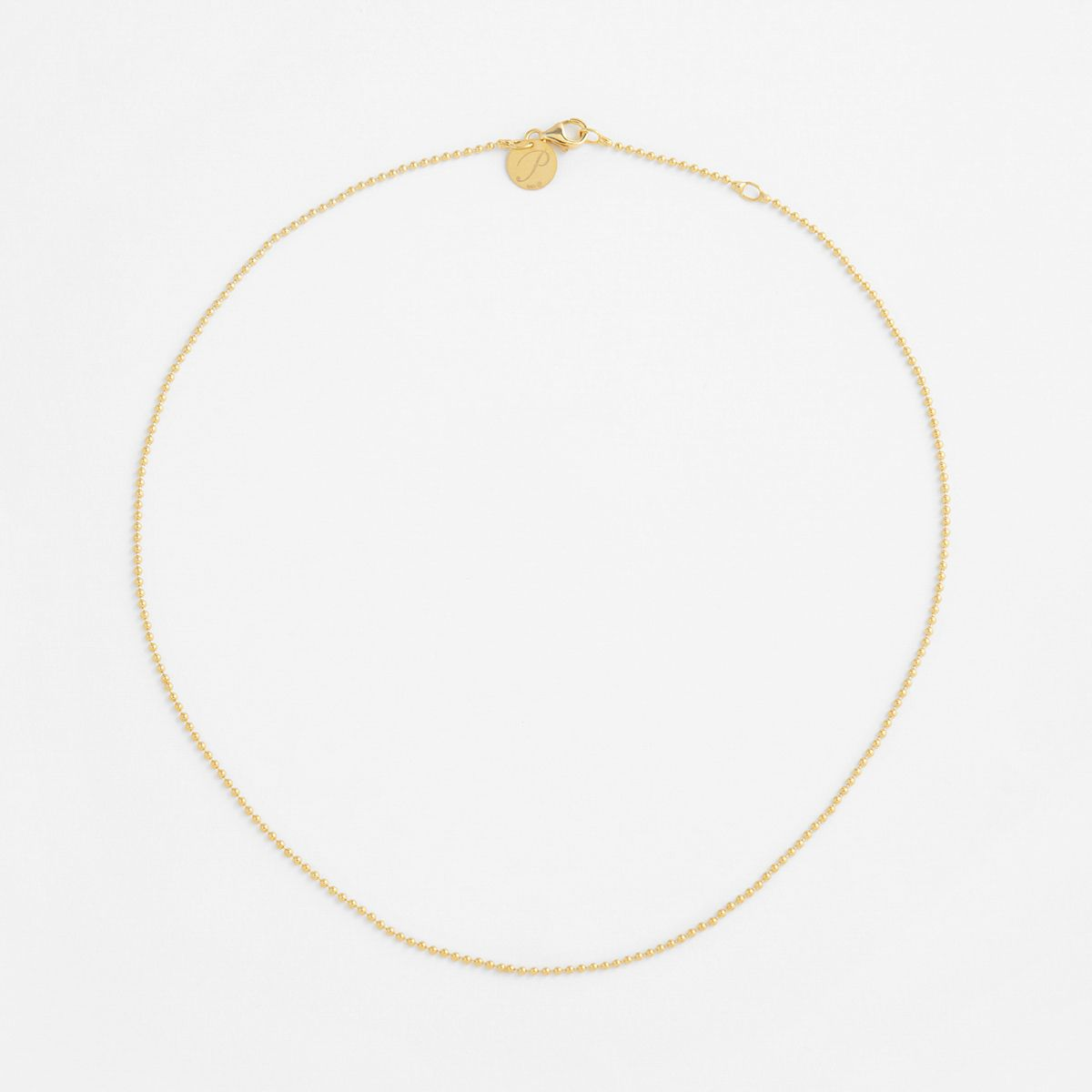 Ball chain - Halsketten - Gold