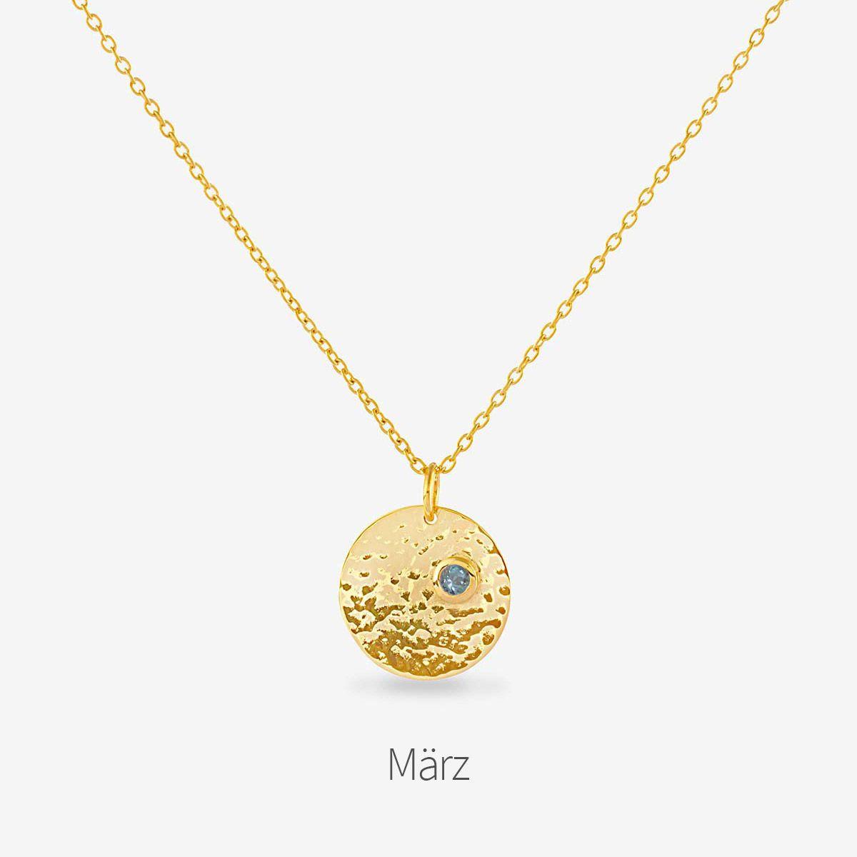 Birthstone March - Halsketten - Gold