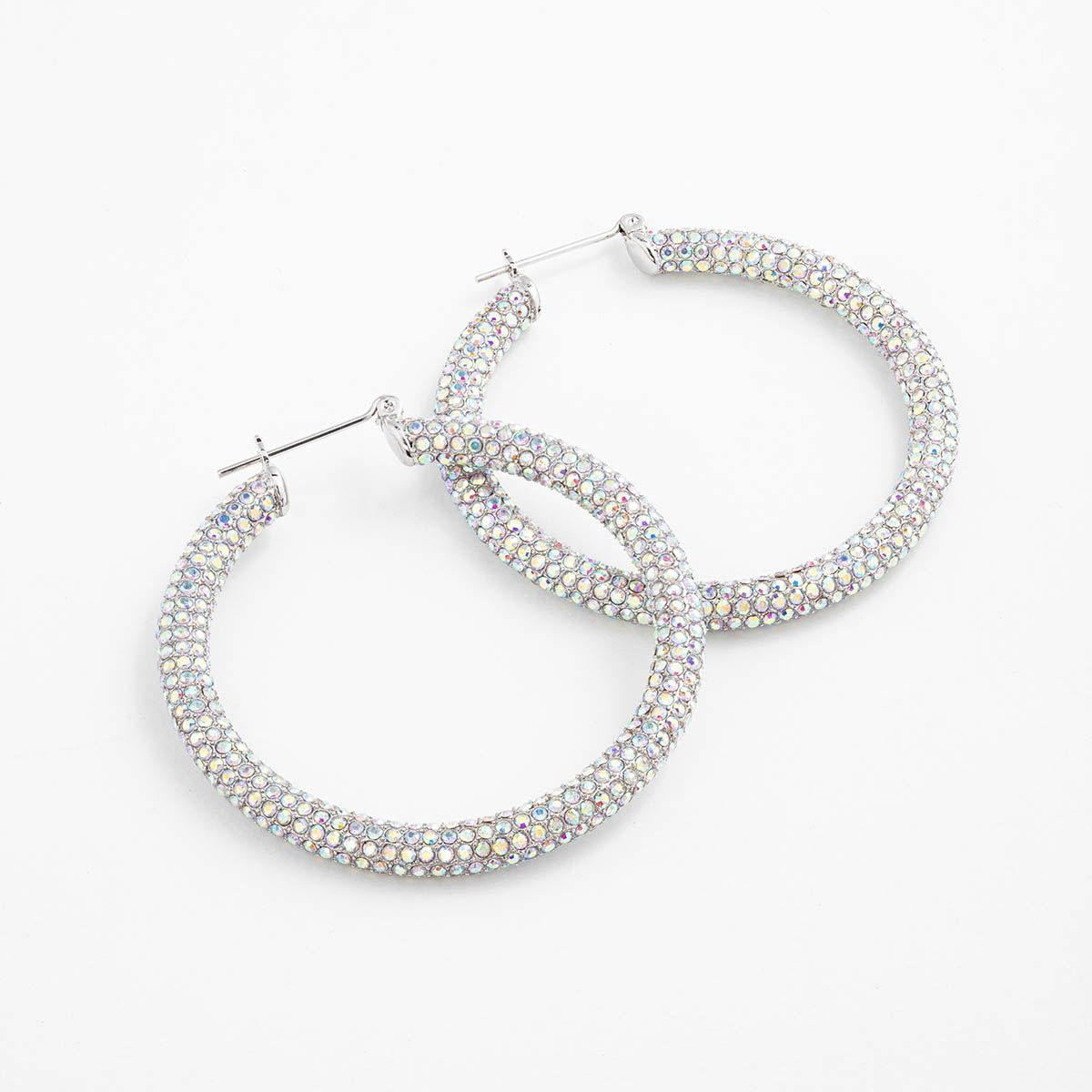 The Pave Amalfi Hoops - Creolen - Silber