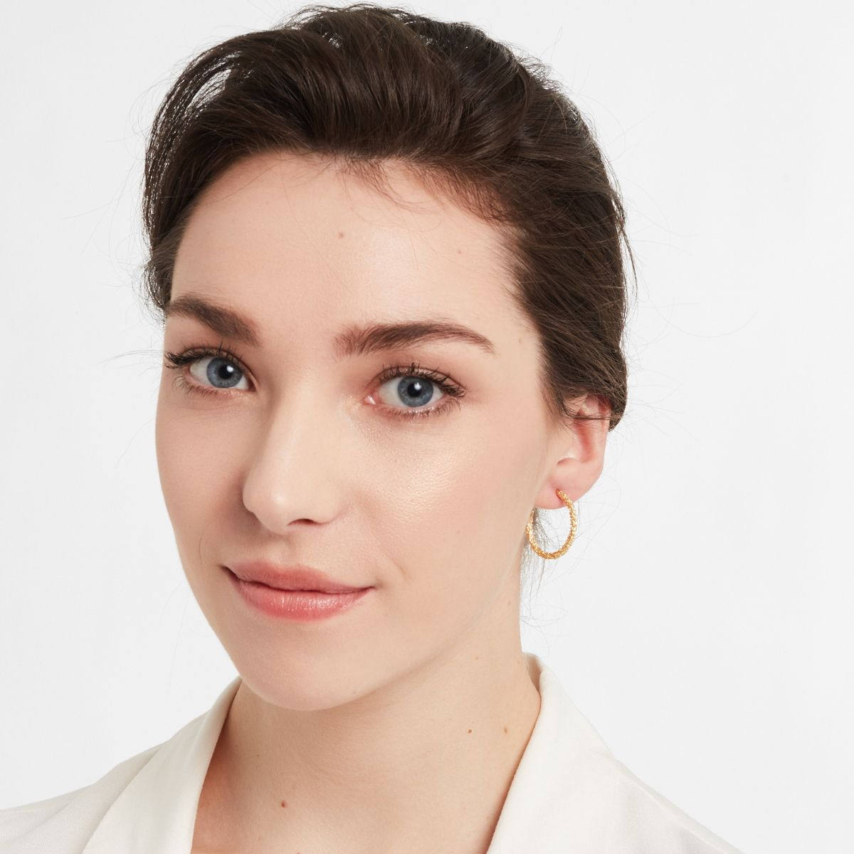 Faye Medium - Creolen - Silber