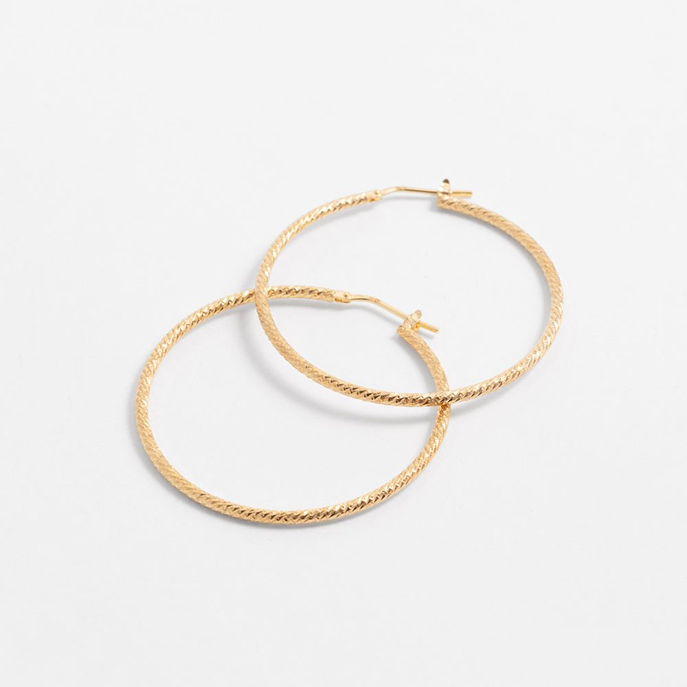 Hammered twisted - Creolen - Gold