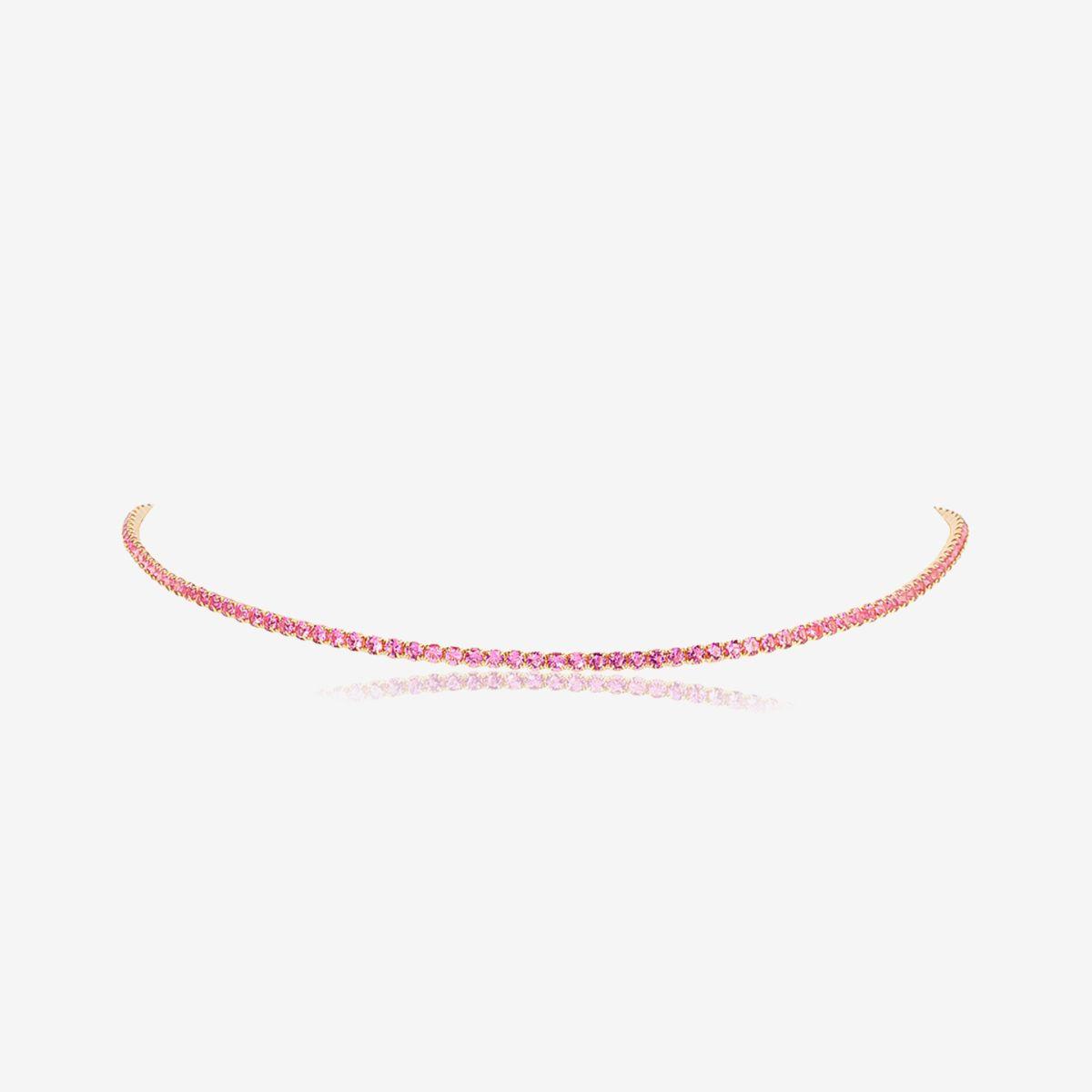 Tennis Pink - Choker - Gold