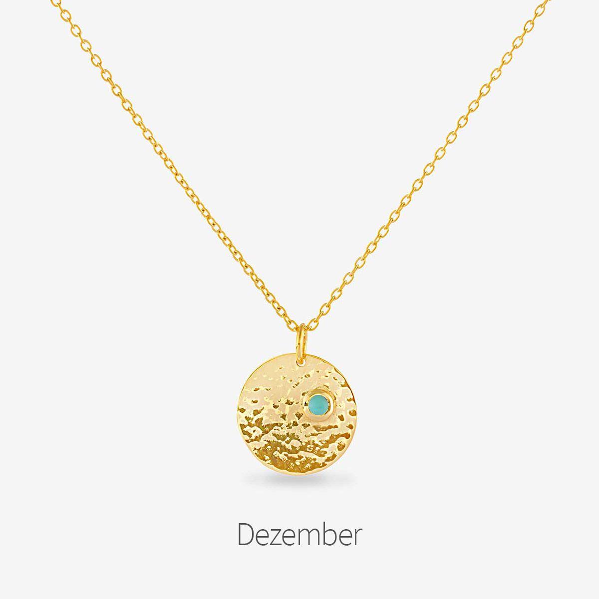 Birthstone December - Halsketten - Gold