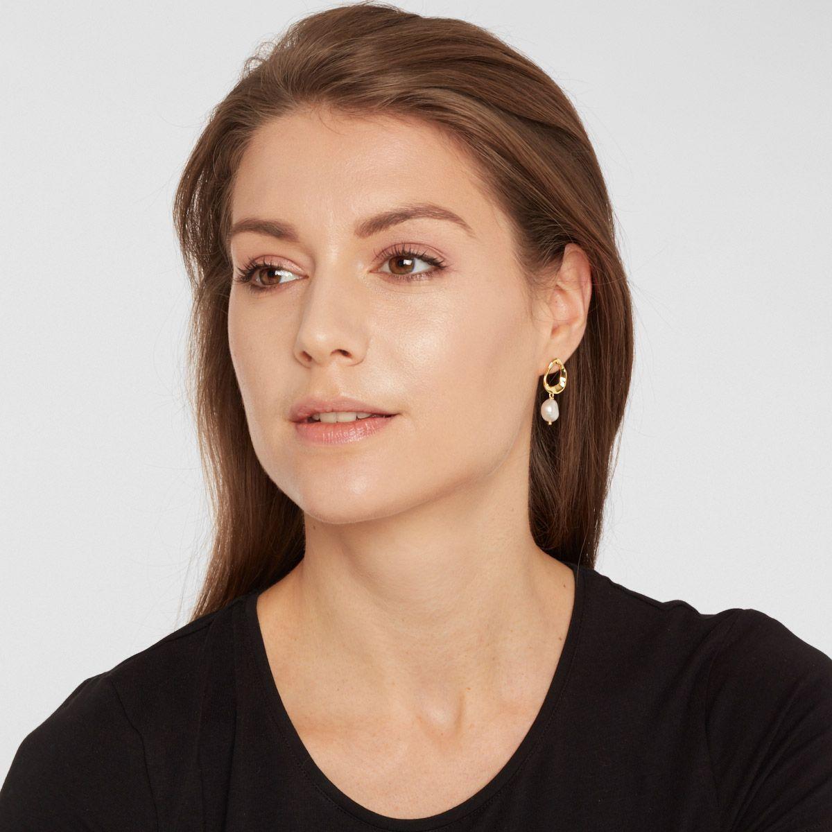 Deanna - Perlenohrringe - Silber