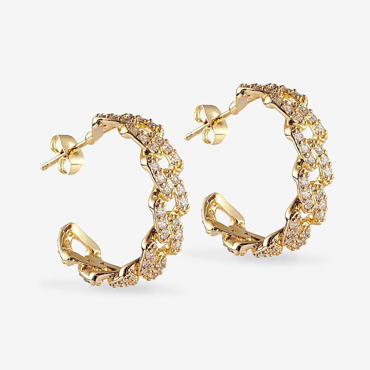 Mexican Chain Earrings - Ohrhänger - 18k vergoldet