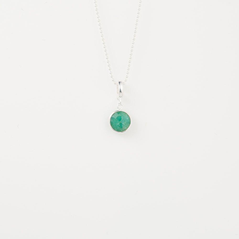 Faceted emerald - Kettenanhänger - Dunkelgrün