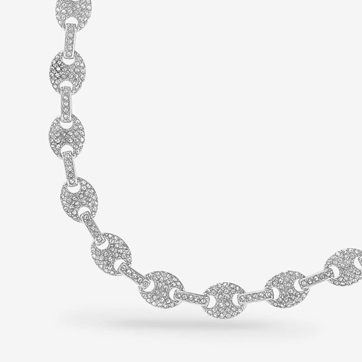 The Pave Mariner Chain Necklace - Halsketten - Silber