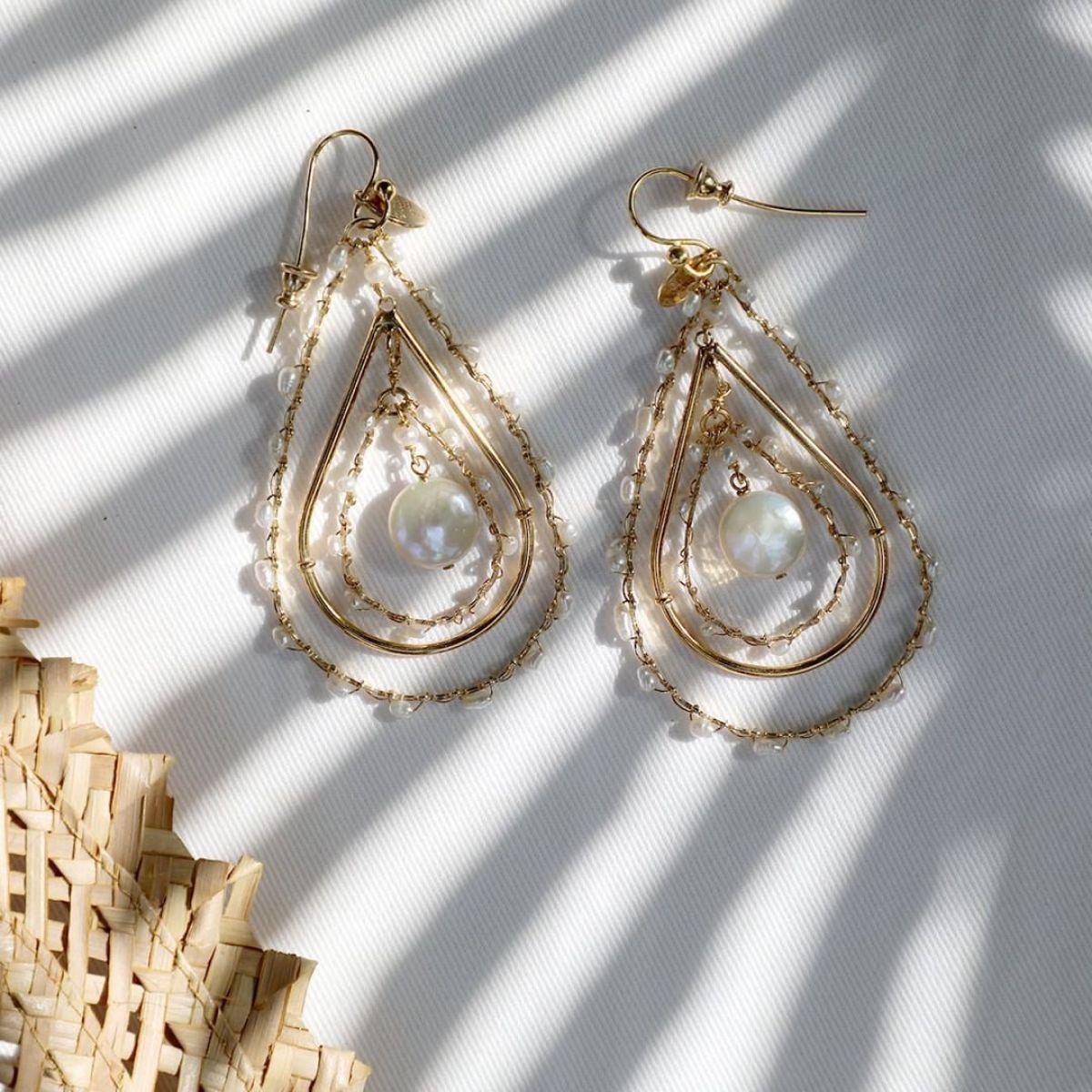 Orphee - Ohrhänger - 24k vergoldet