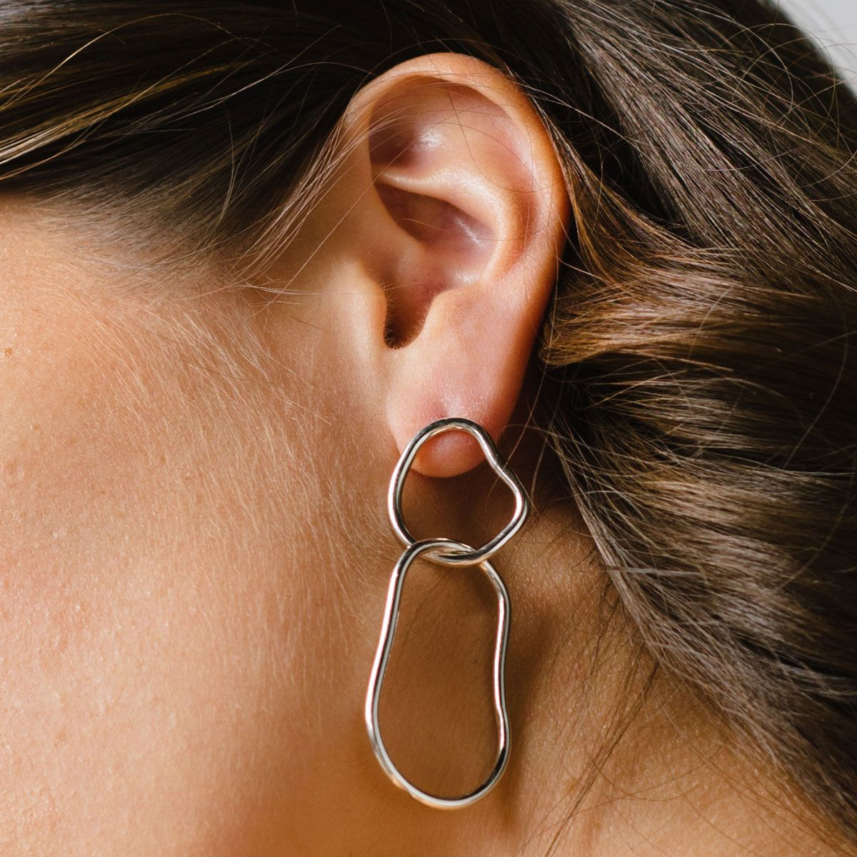 Freeform - Ohrhänger - Silber