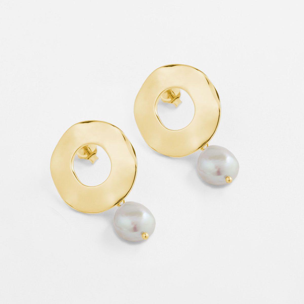 Cora - Perlenohrringe - 14k vergoldet