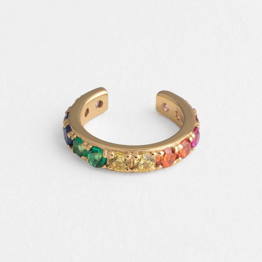 Rainbow - Earcuffs - 18k vergoldet