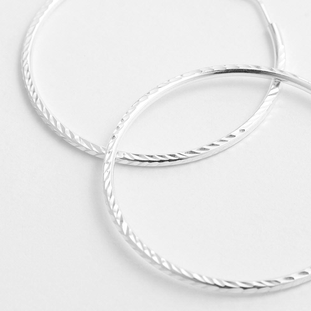 Hammered polished - Creolen - Silber