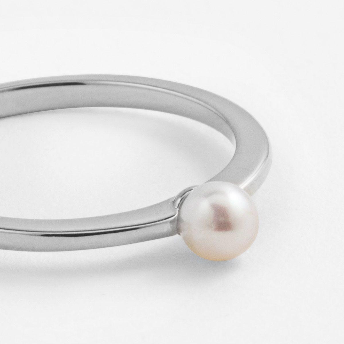 Frieda - Perlenring - Silber