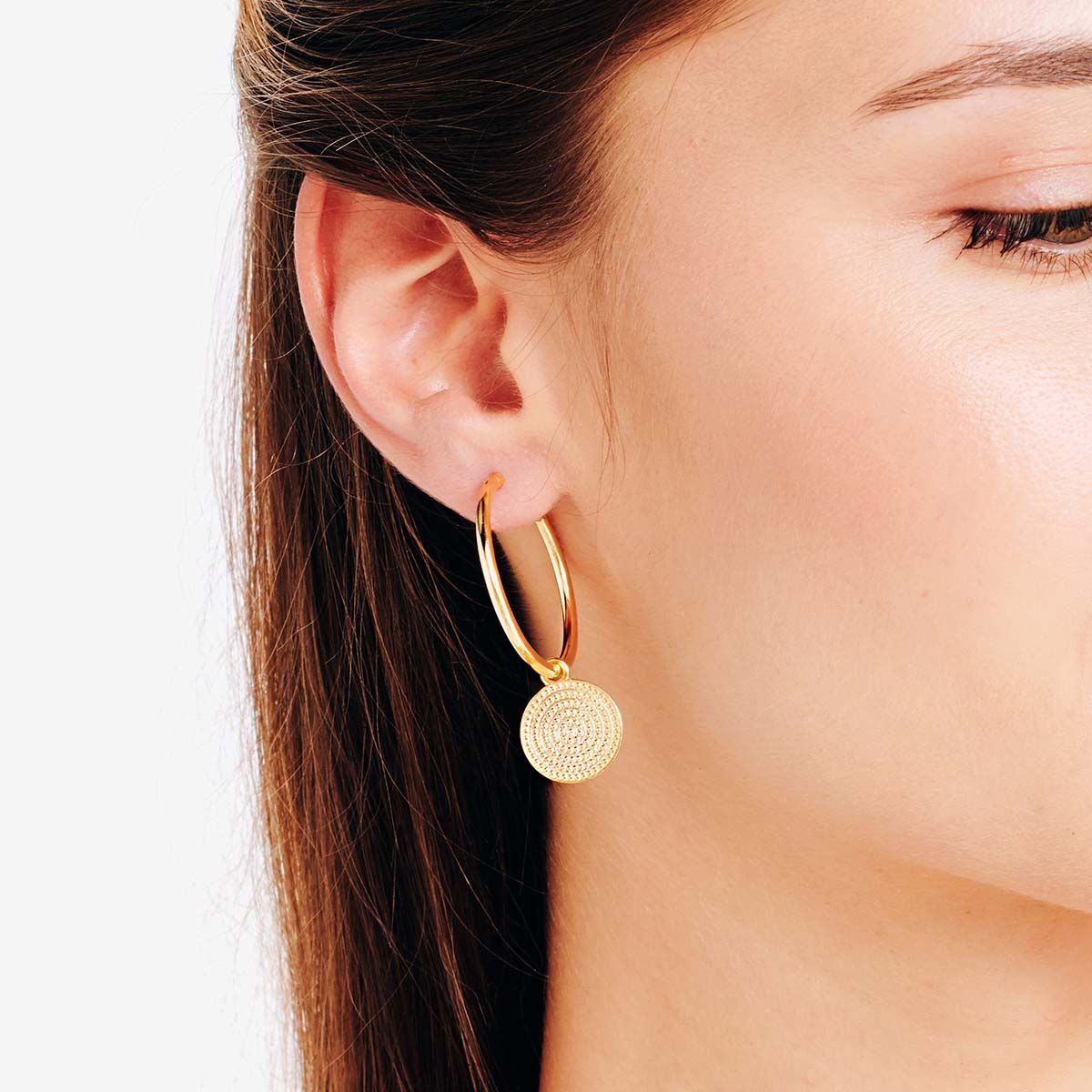 Coin earrings - Creolen - Silber