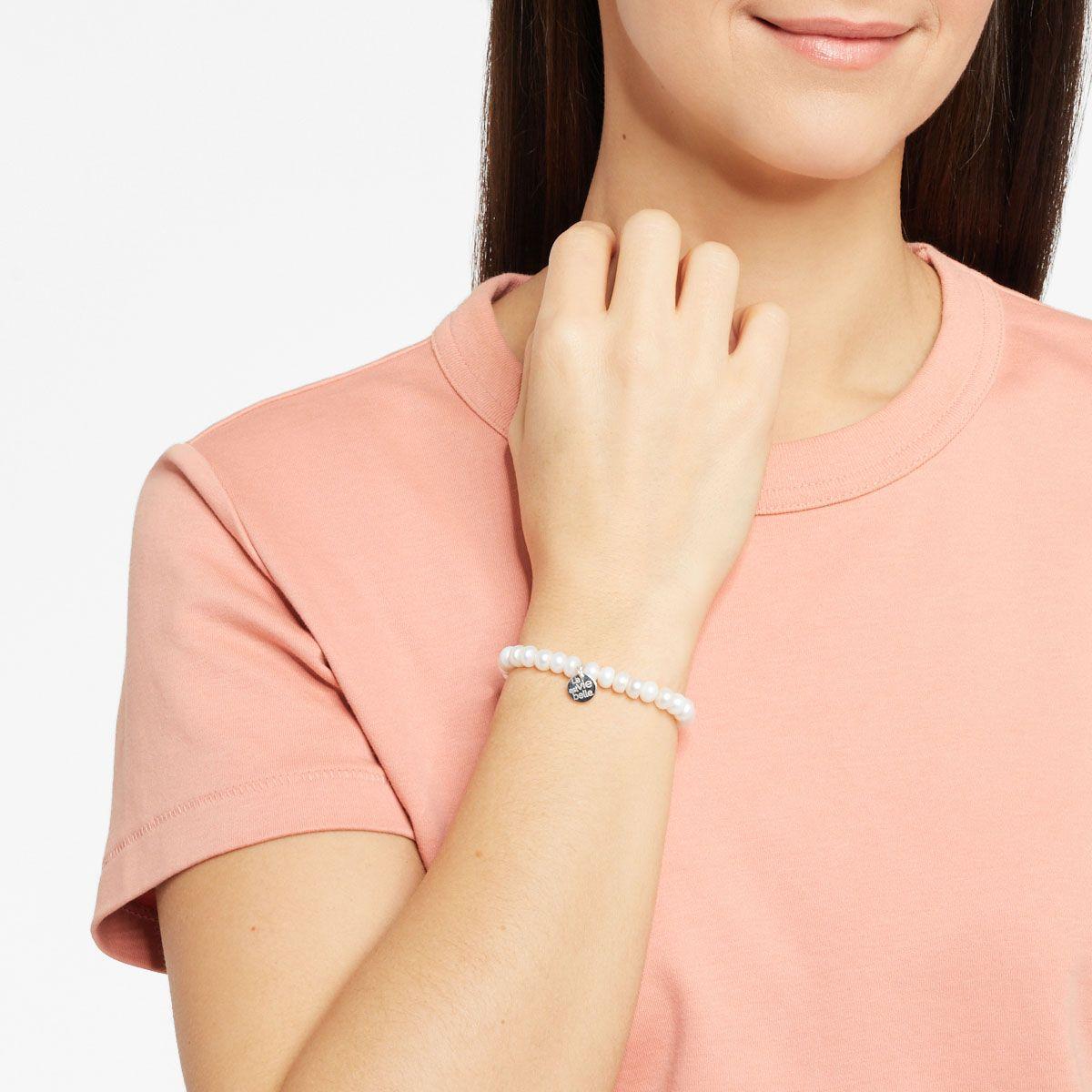 Elastische Armbänder - Weiss