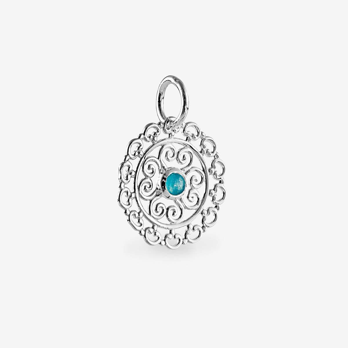 Blue quartz pendat - Kettenanhänger - Silber