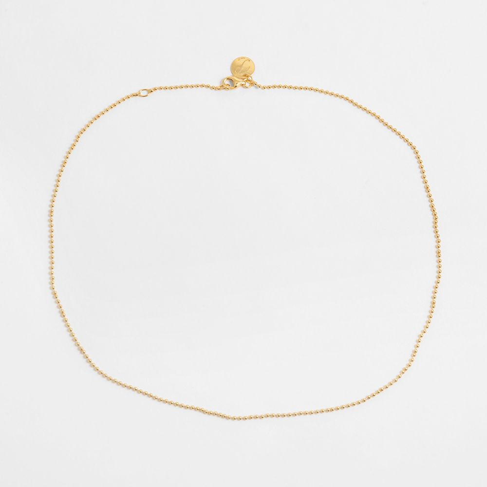 Ball chain - Halsketten - Gold