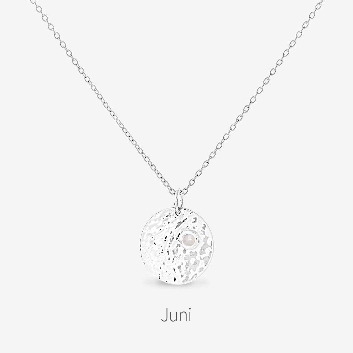 Birthstone June - Halsketten - Silber