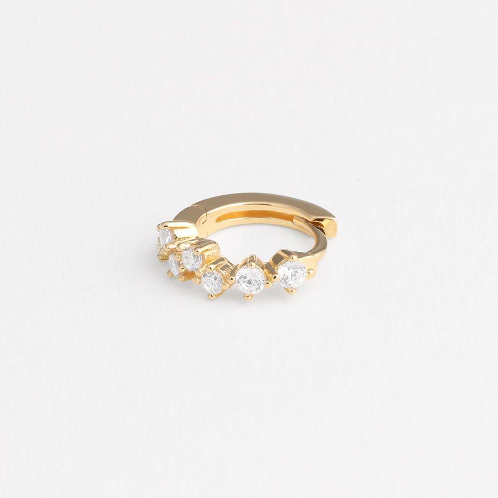 Goldie hoop - Single-Ohrringe - 18k vergoldet