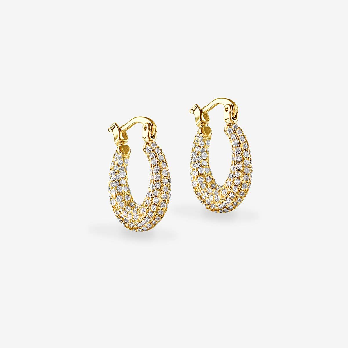 The pave mini martina hoops - Creolen - Gold