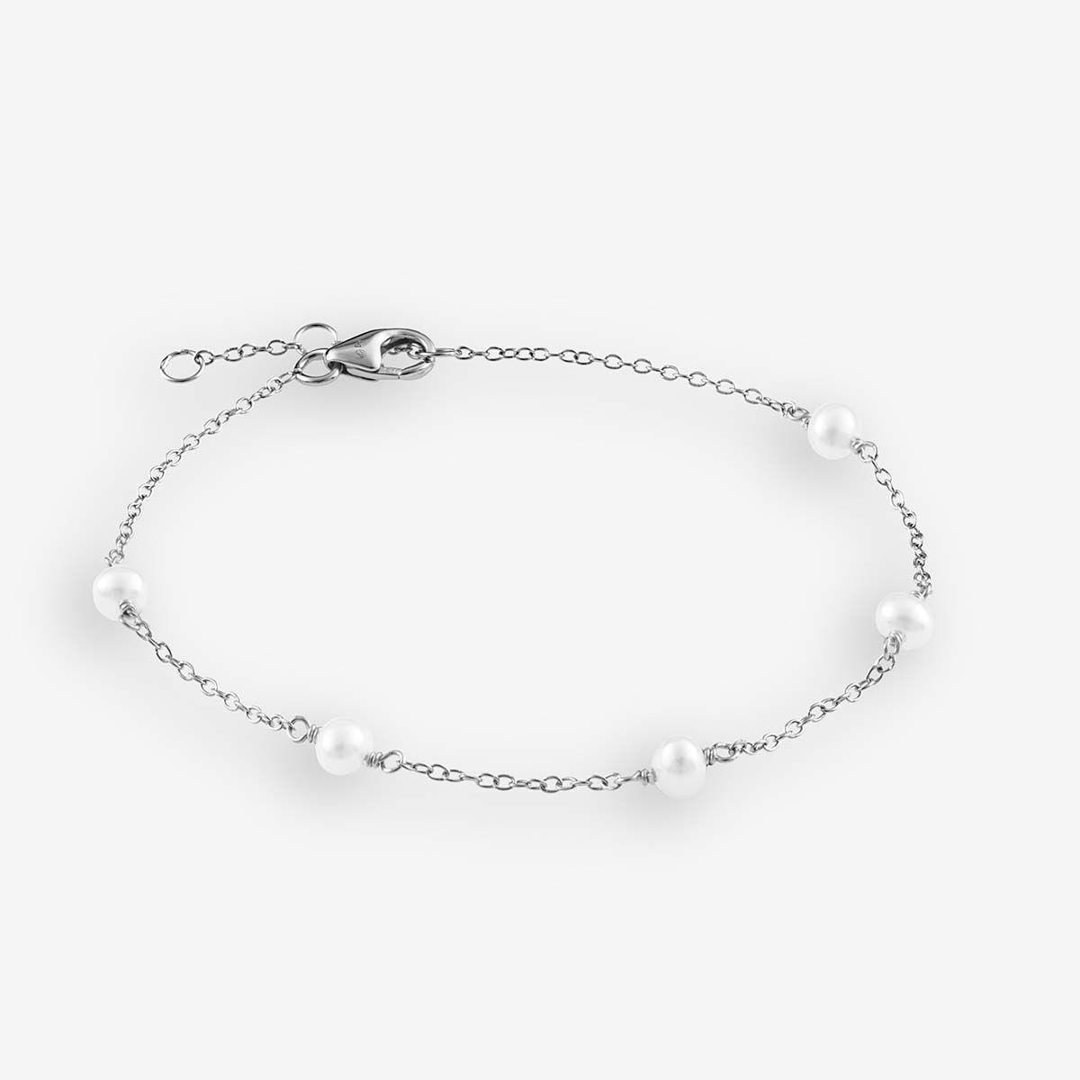 Romi - Perlenarmband - Silber