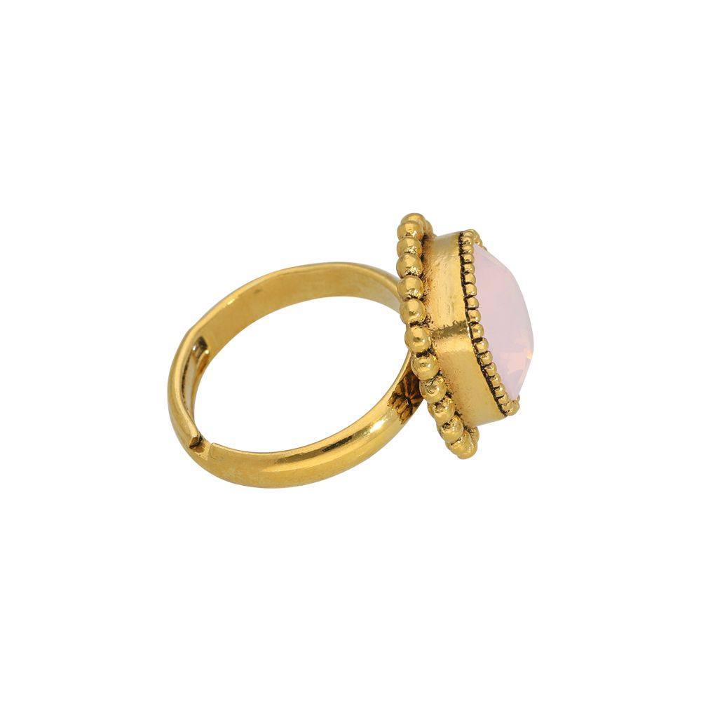 Faceted crystal - Ringe - Rosa