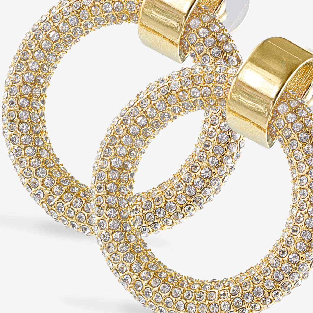 The Pave Door Knocker Hoops - Ohrstecker - Gold