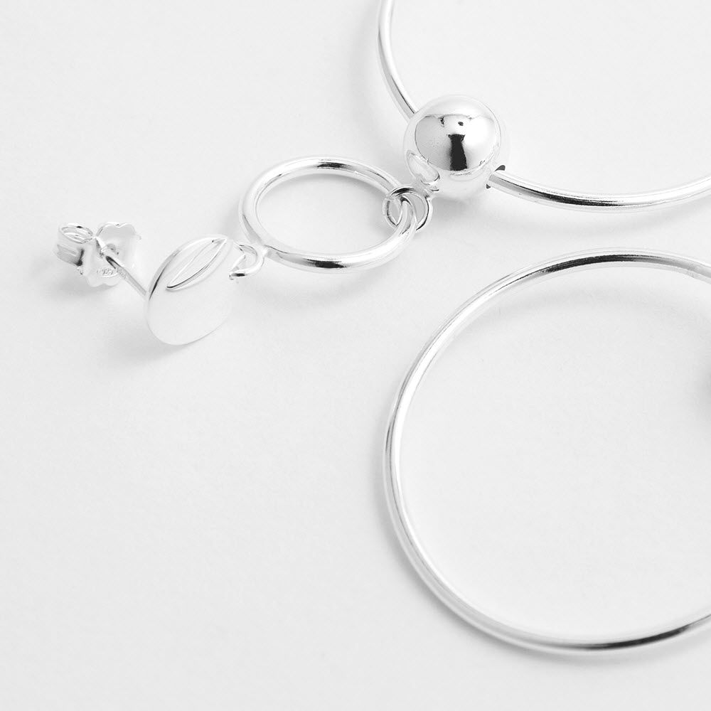 Link chain - Ohrhänger - Silber