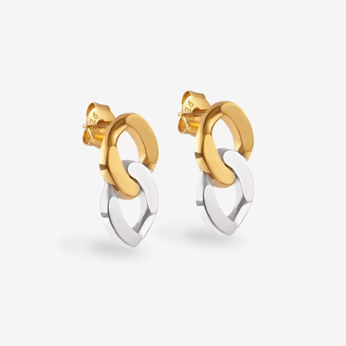 Peaches - Ohrstecker - Silber & Gold