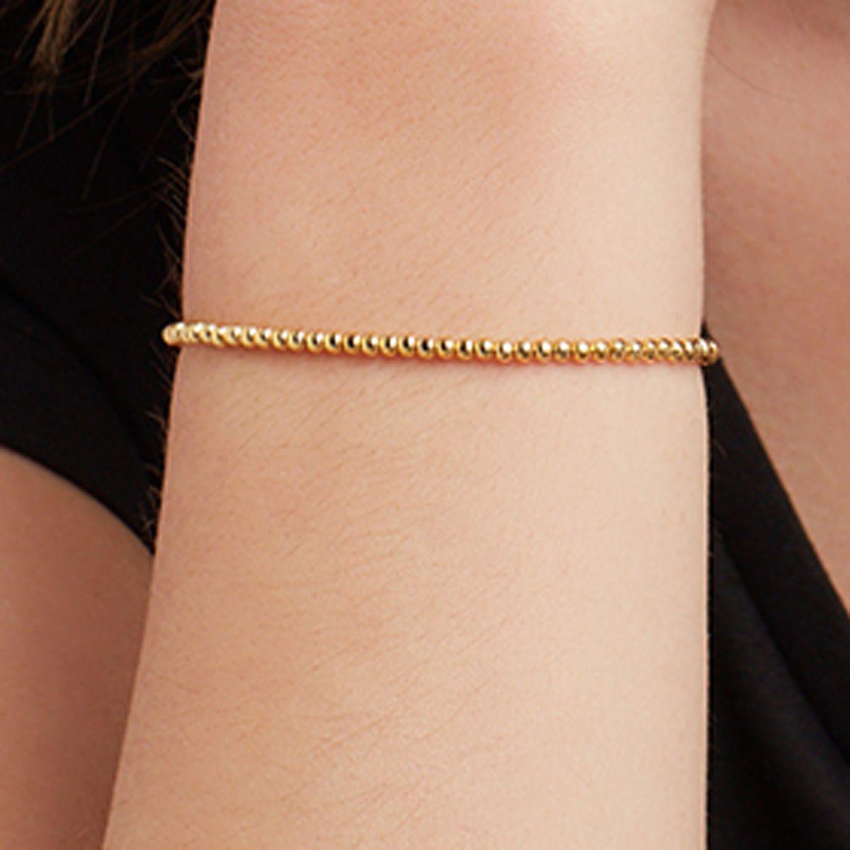 Elastische Armbänder - 18k vergoldet