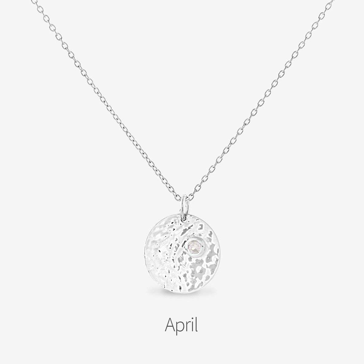 Birthstone April - Halsketten - Silber