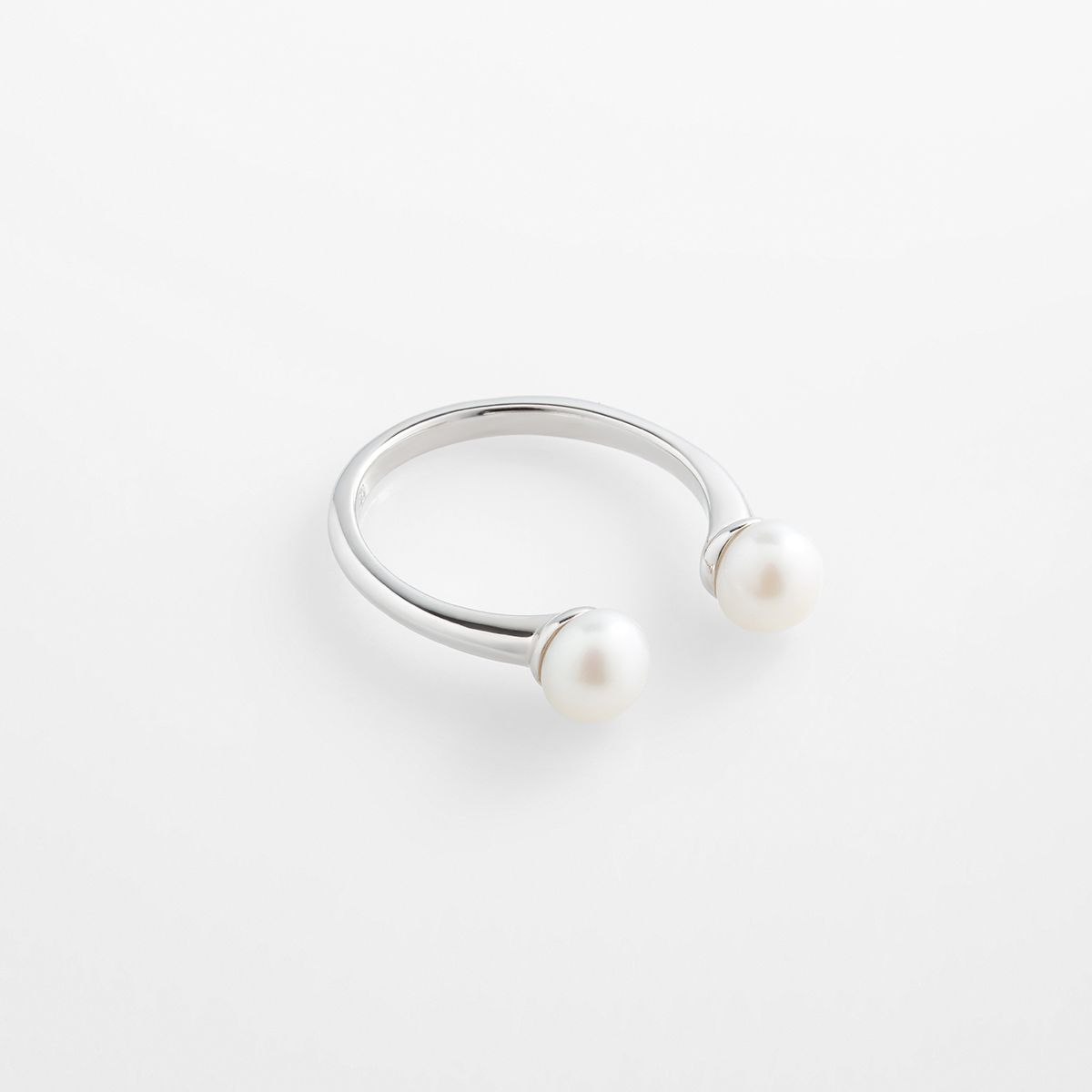Alva - Perlenring - Silber