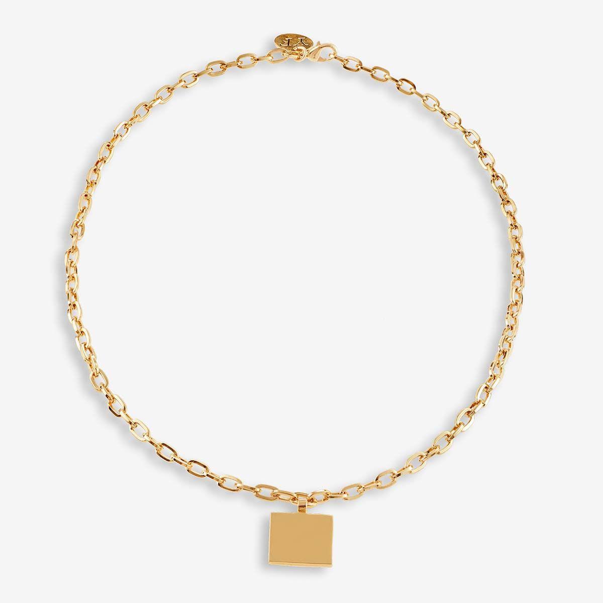 Square Chain - Halsketten - Gold