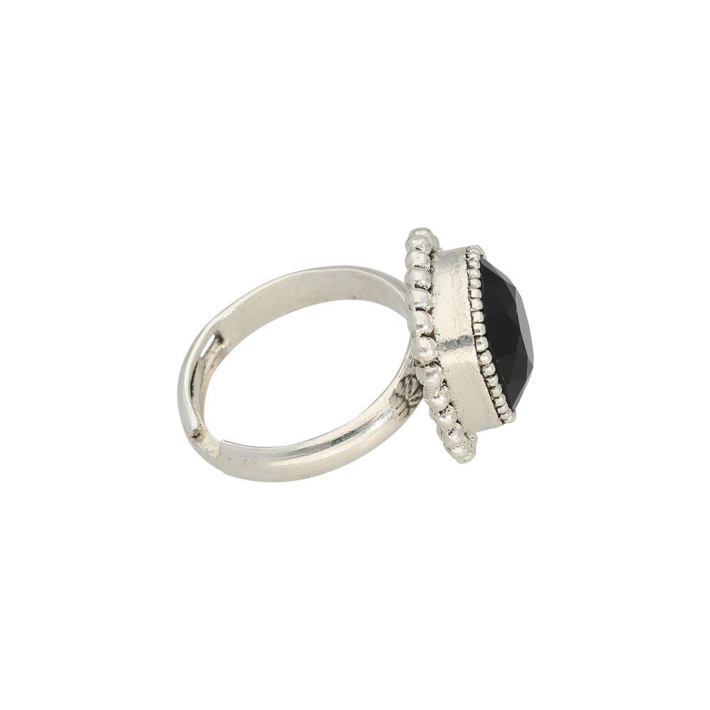 Faceted crystal - Ringe - Schwarz