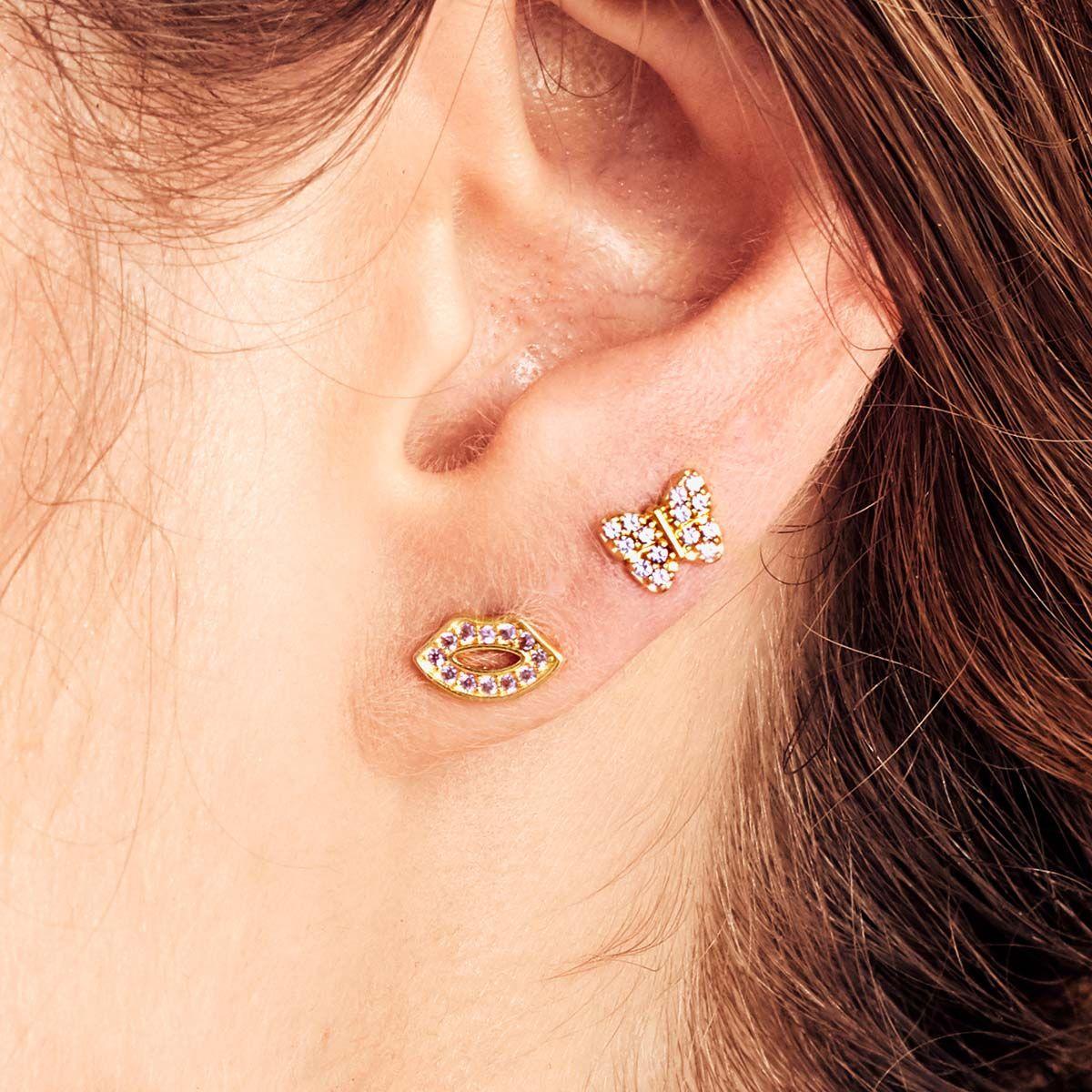 Kiss Me Piercing - Single-Ohrringe - Gold